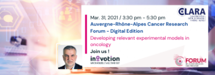 INOVOTION WILL ATTEND THE AUVERGNE-RHONE-ALPES CANCER RESEARCH FORUM-DIGITAL EDITION